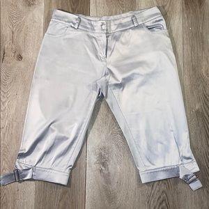axara silk Capri pants